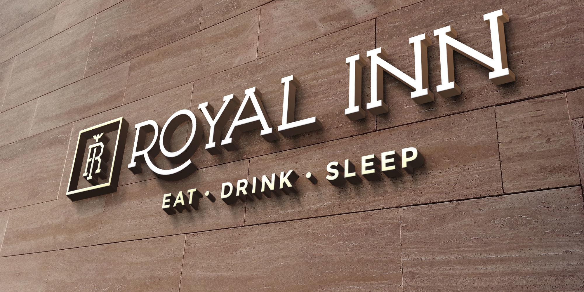 Royal Inn Logo Design on Wall