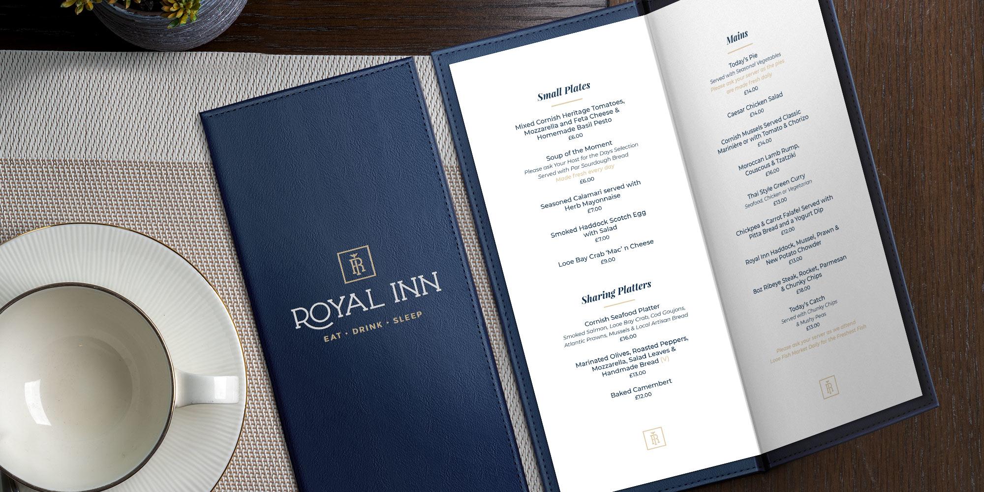 Royal Inn Menu Design