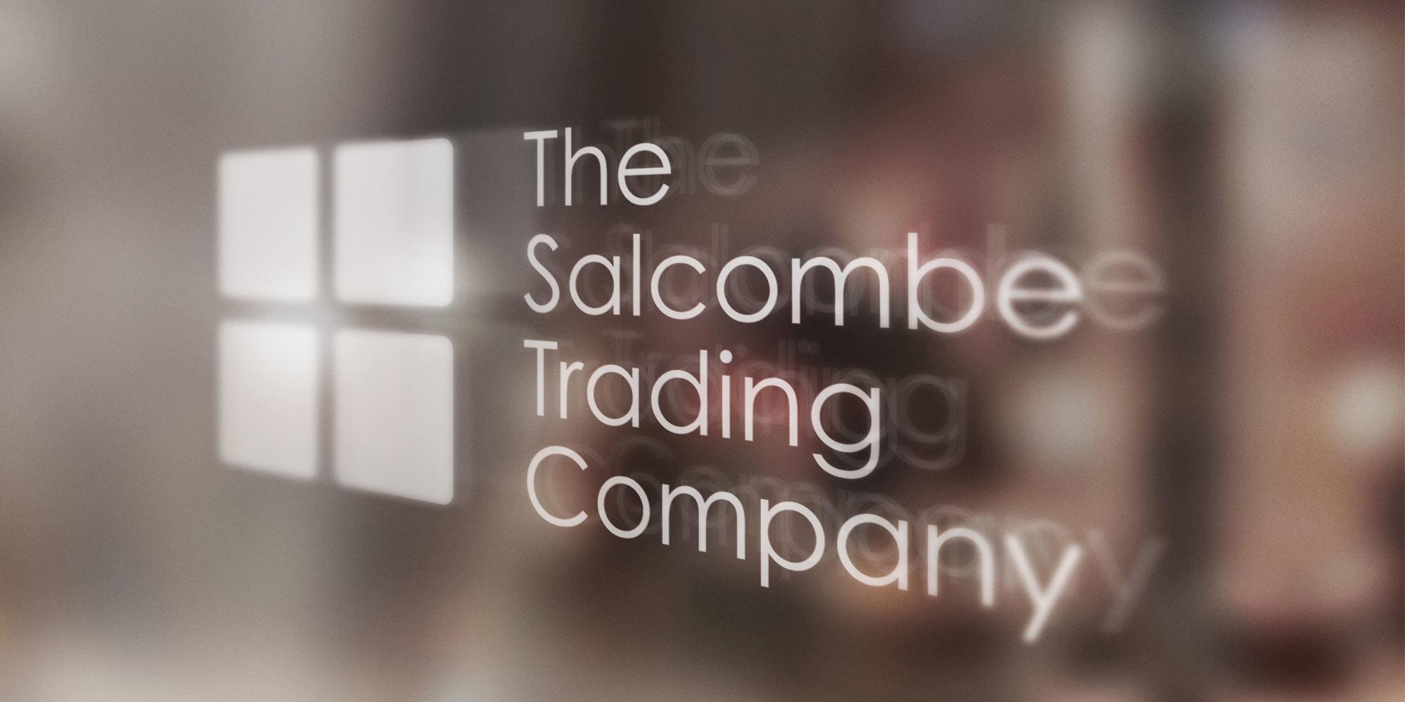 Salcombe Trading Print Design on Glass