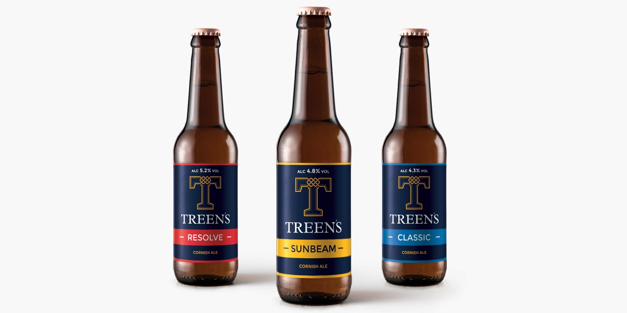 Treen's Brewery Print Design on Beer Labels
