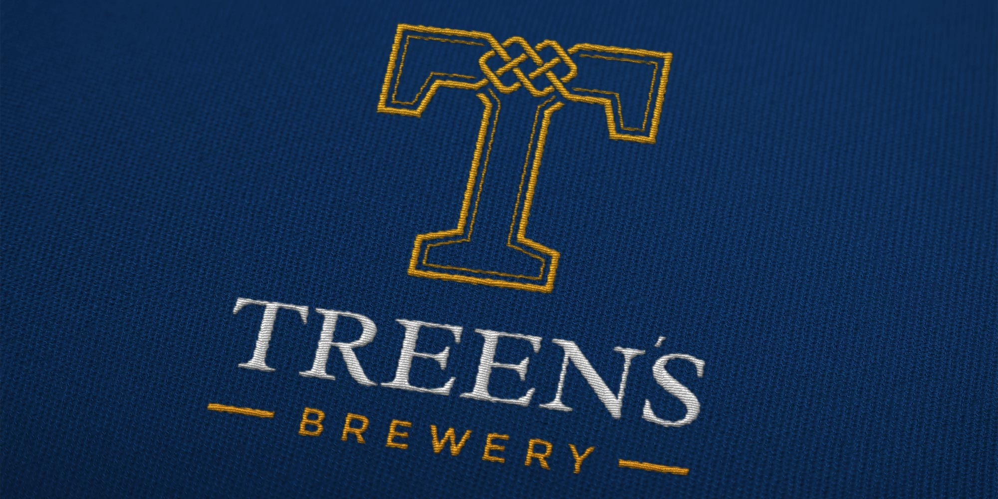 Treen's Brewery Print Design on Uniform