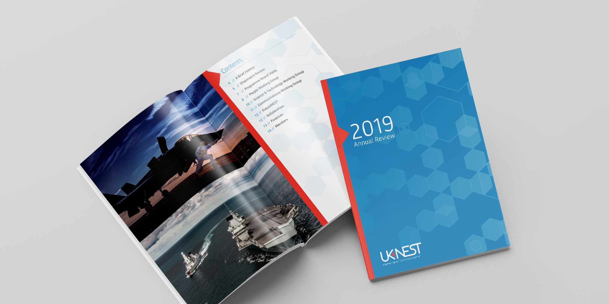 UK Nest Annual Report Print Design