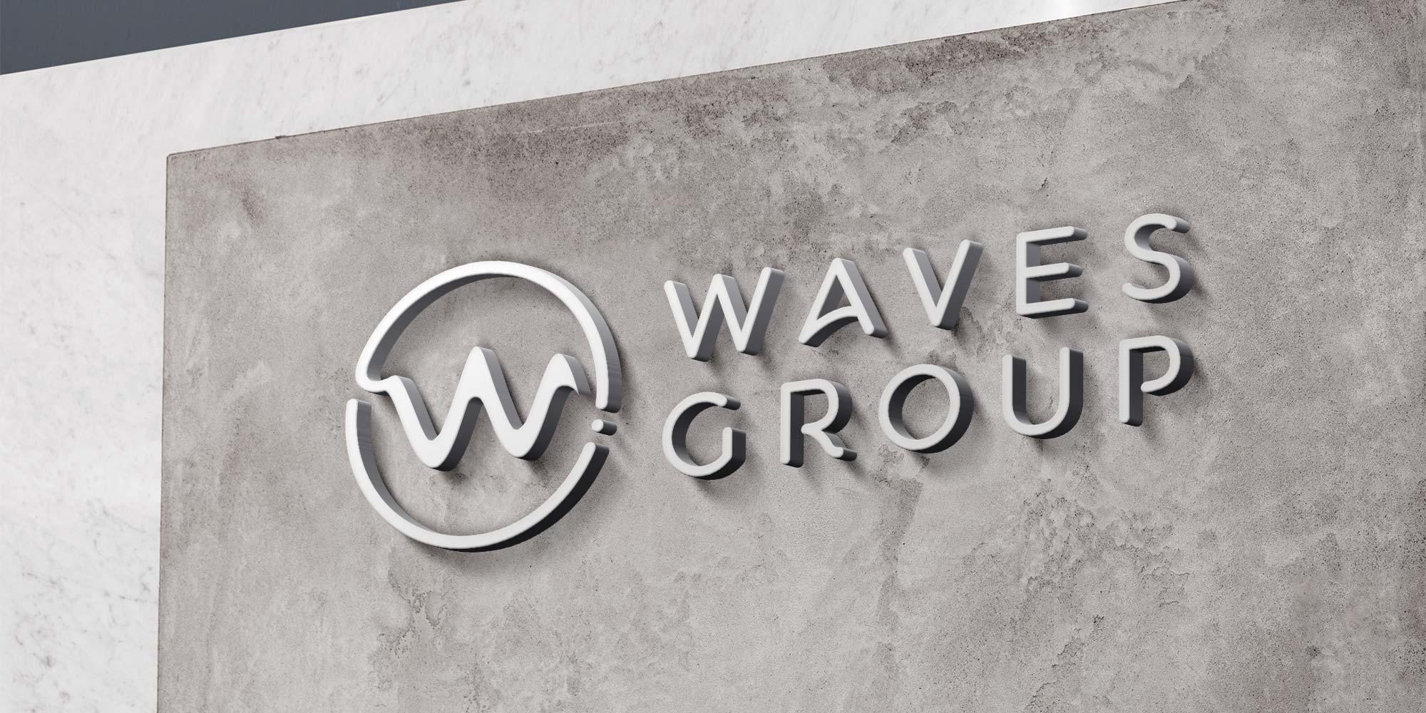 Waves Group Logo Design