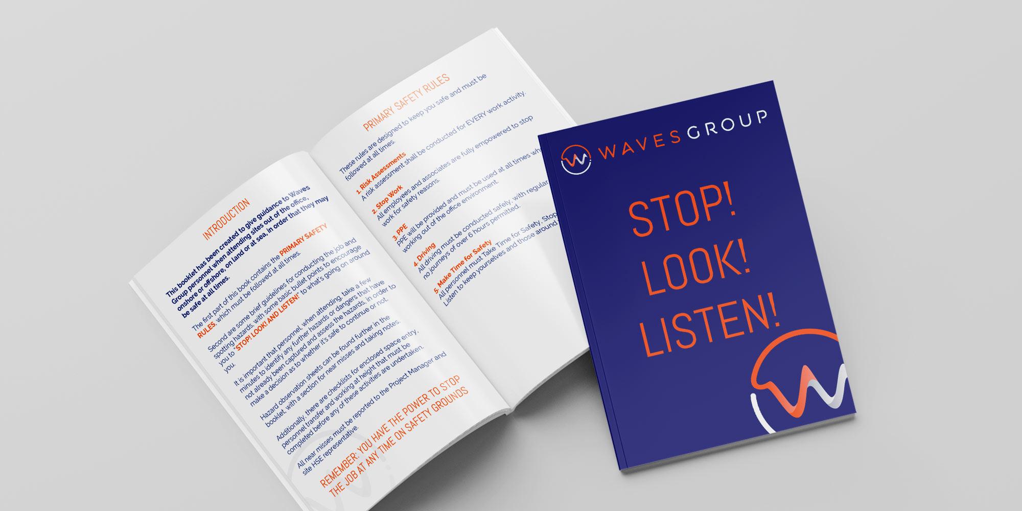 Waves Group Brochure Design