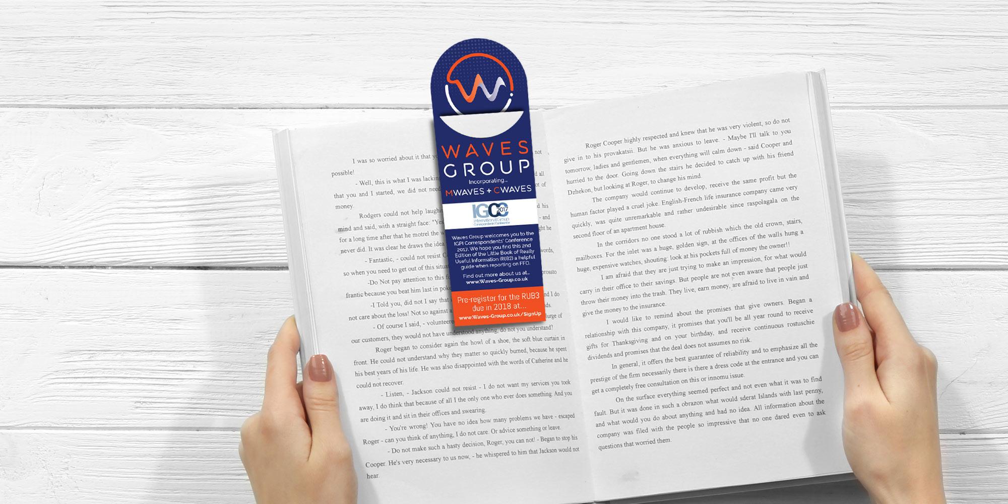 Waves Group Bookmark Design