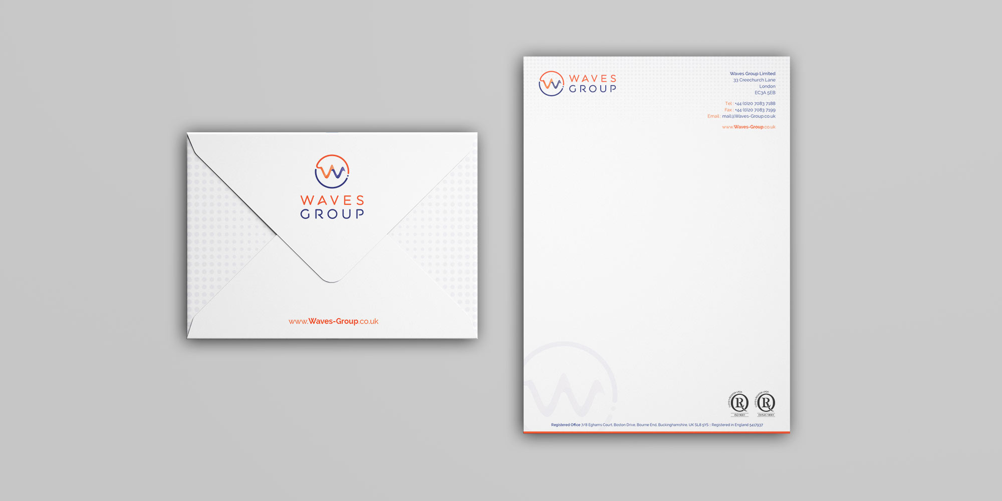 Waves Group Stationery Design