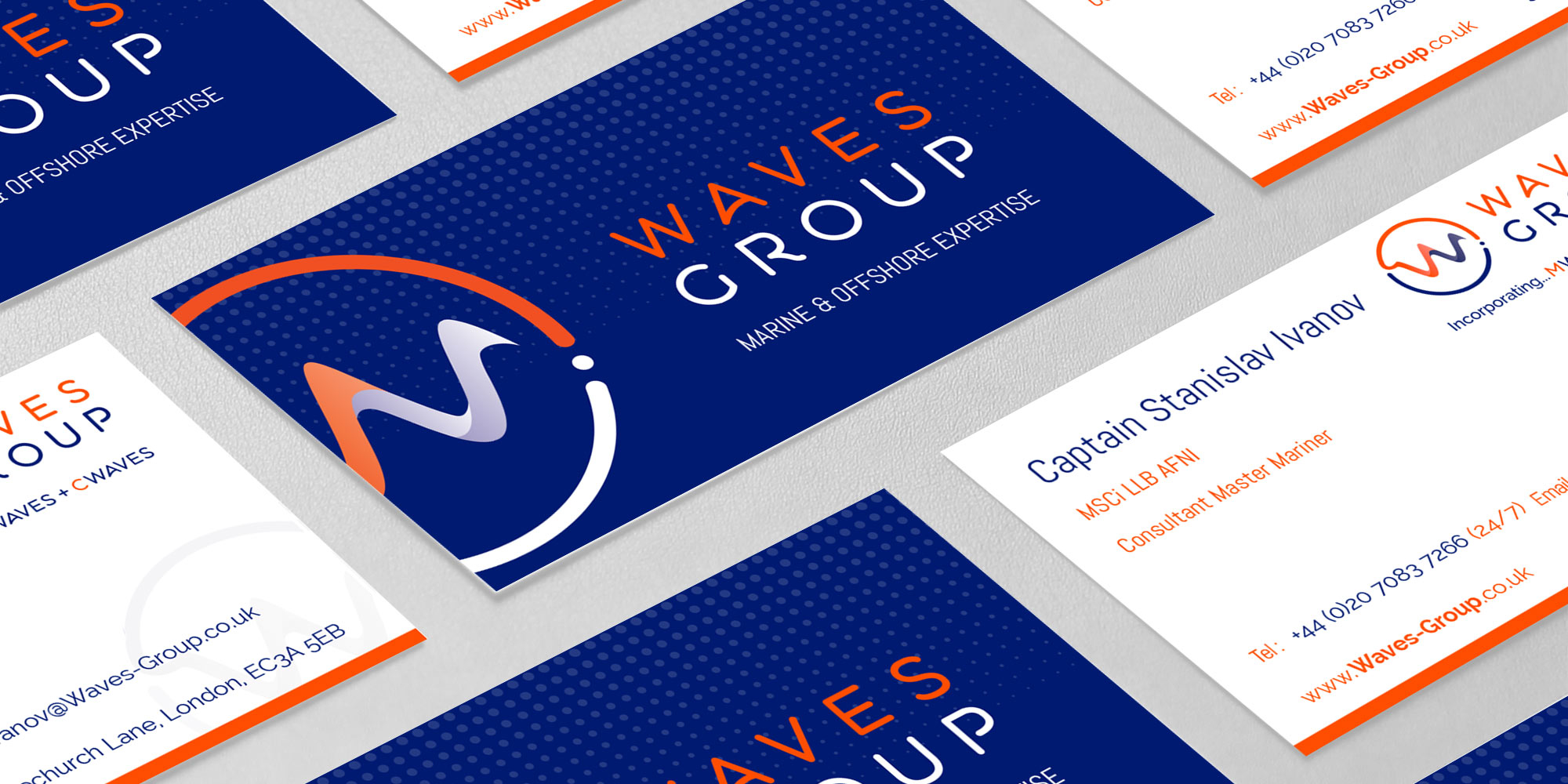 Waves Group Business Card Design
