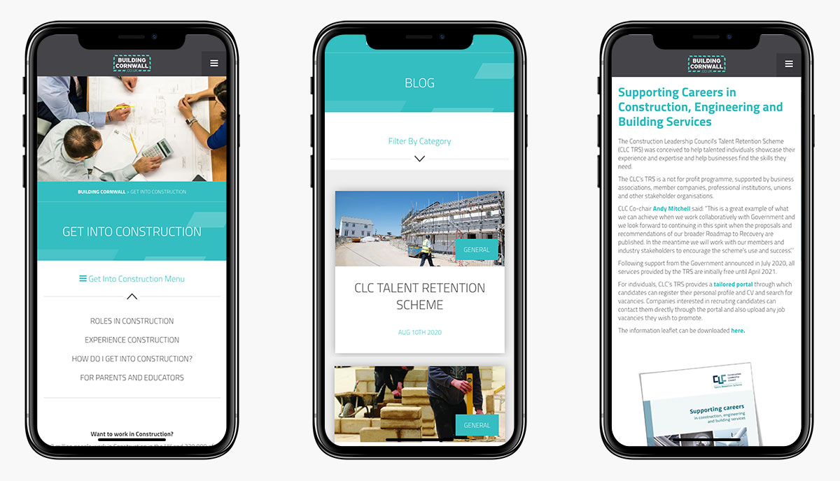 Building Cornwall Wordpress Website Design on Mobile Devices