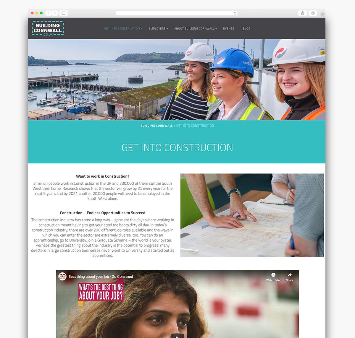 Building Cornwall Wordpress Website Homepage Design