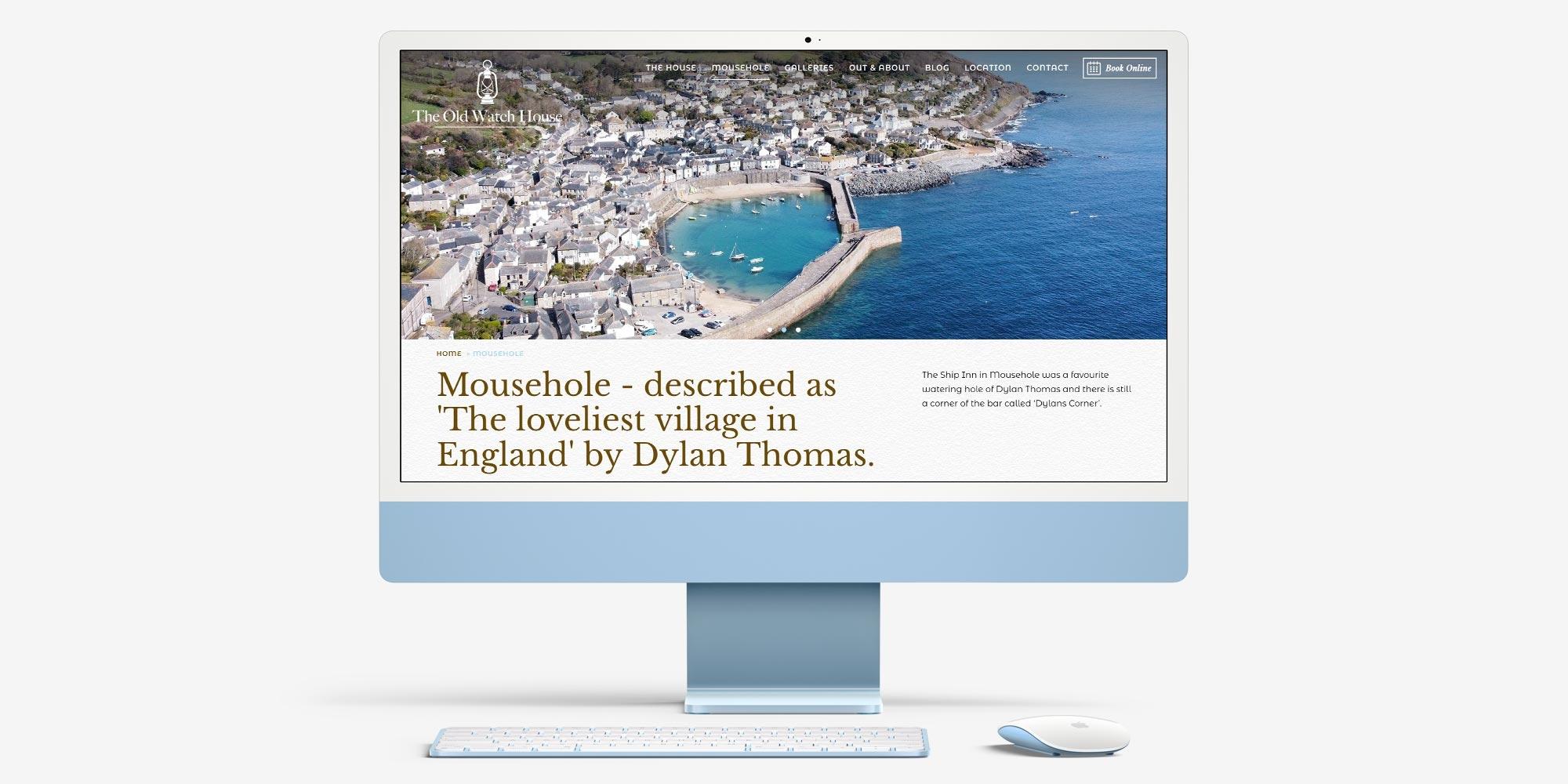 Old Watch House Website Design on a Desktop